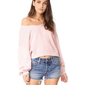 Free People Perfect Day Sweater in Rose Pink
